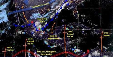 Pronóstico del tiempo en México para jueves 31 de octubre del 2019