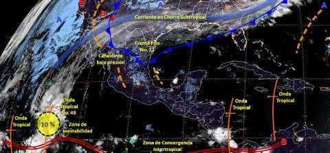 Frente frío No.11 provocará lluvias aisladas en Tlaxcala
