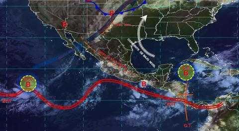 Pronóstico del tiempo en México para miércoles 2 de octubre