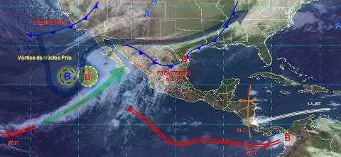 Pronóstico del tiempo en México para miércoles 27 de noviembre del 2019