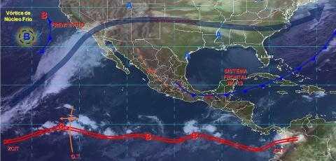 Pronóstico del tiempo en México para martes 3 de diciembre del 2019