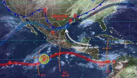 Pronóstico del tiempo en México para miércoles 30 de octubre del 2019