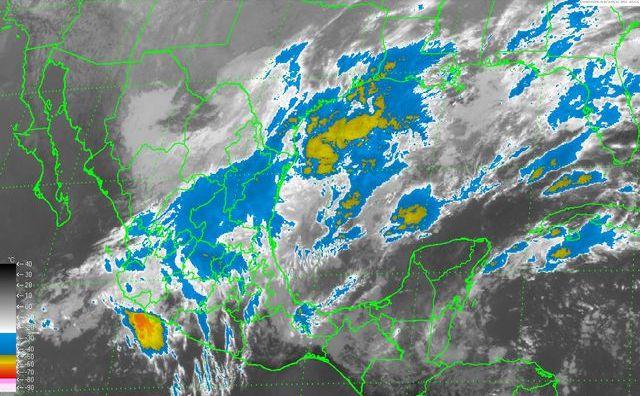 En las próximas horas se prevén tormentas fuertes en el norte, el centro y el sur de México