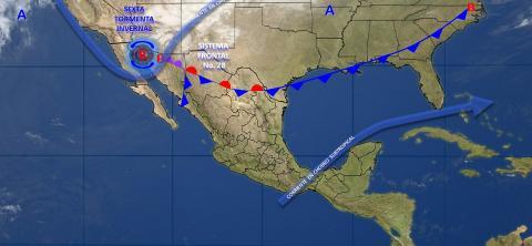 Tormentas intensas con actividad eléctrica y viento se prevé para Guerrero, Oaxaca y Chiapas