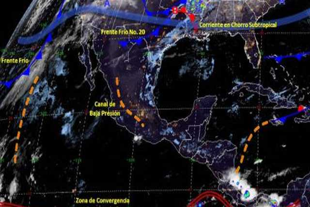 Pronóstico del tiempo en México para viernes 6 de diciembre del 2019