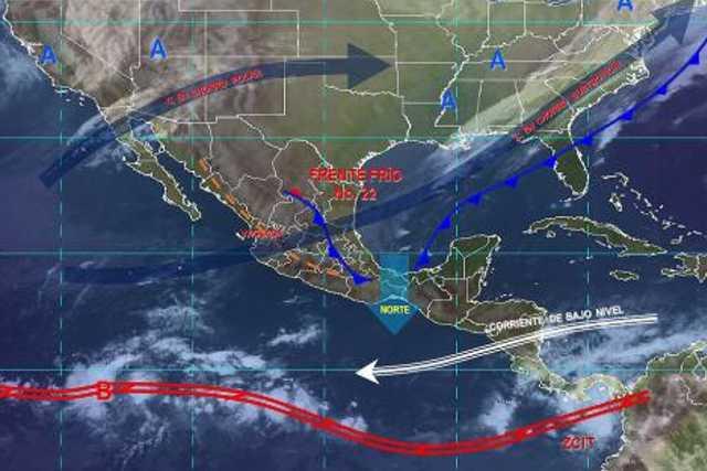 Pronóstico del tiempo en México para miércoles 11 de diciembre del 2019