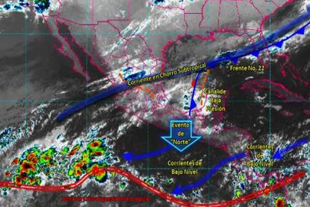 Pronóstico del tiempo en México para jueves 12 de diciembre del 2019
