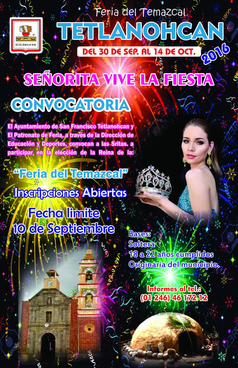 "En Tetlanohcan emiten convocatoria ""Señorita 2016"""