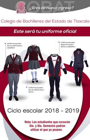 El Cobat mantendrá el mismo uniforme escolar para el siguiente ciclo