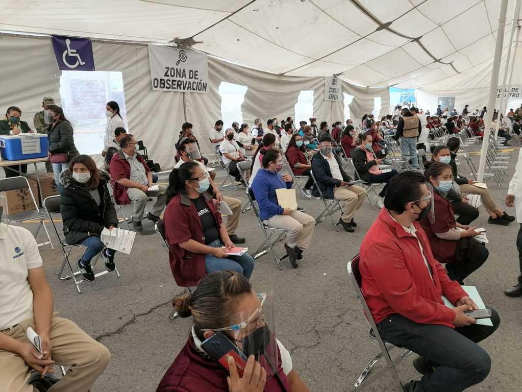 Inicia segunda etapa de vacunación en Tetla de la Solidaridad