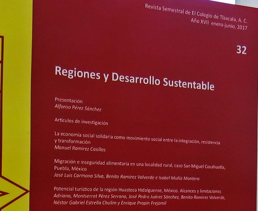 Presentarán nuevo número de la revista Regiones y Desarrollo Sustentable