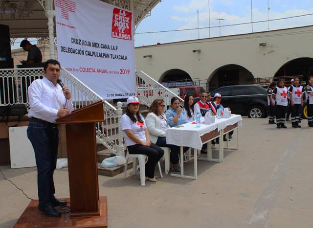 Alcalde se suma a la Colecta Anual de la Cruz Roja 2019