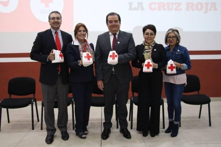 Sánchez Jasso se suma a la colecta nacional de la Cruz Roja