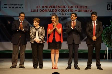 Recuerdan priistas de Tlaxcala el aniversario luctuoso de Colosio