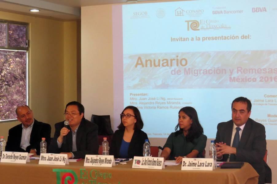 Presentan anuario de migración y remesas 2016