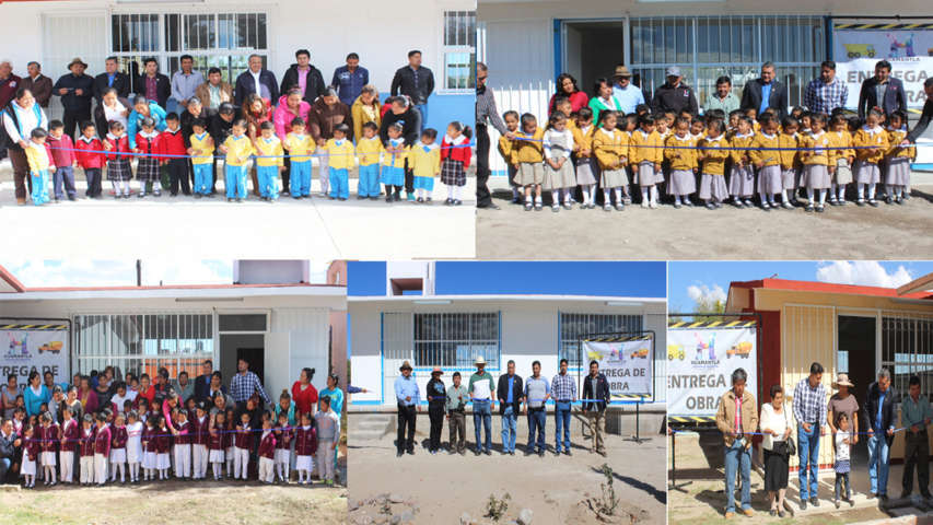 Entrega Ayuntamiento de Huamantla 5 Comedores Escolares más