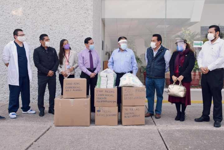 Legisladores locales entregan equipo de protección a trabajadores de la salud