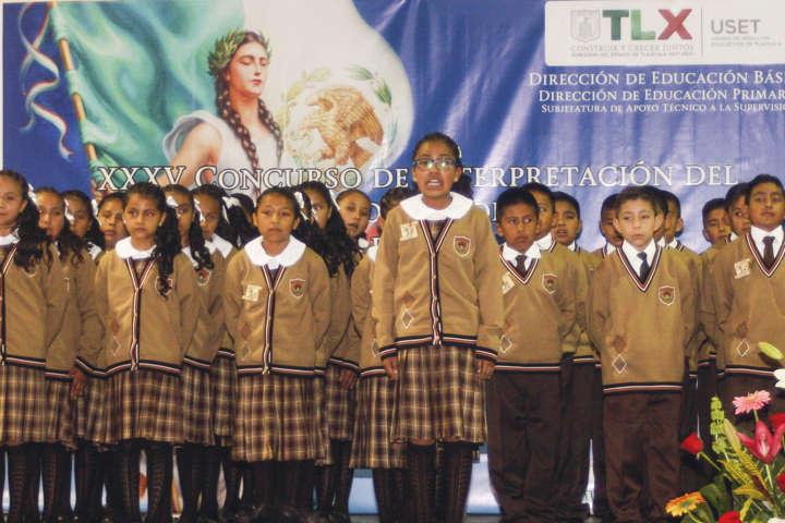 Celebra SEPE concurso de interpretación del himno nacional