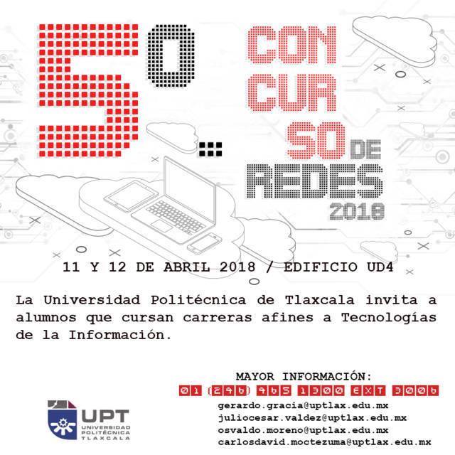 Realizará UPTx 5º Concurso de Redes 2018