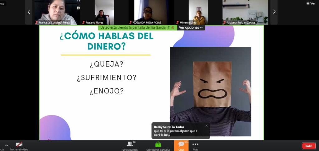 """Desarrolla comuna de Tlaxcala taller virtual """"Conecta con tu riqueza"""""""