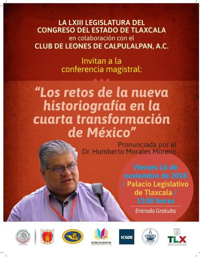 Realizará Congreso a conferencia magistral por Cuarta Transformación de México
