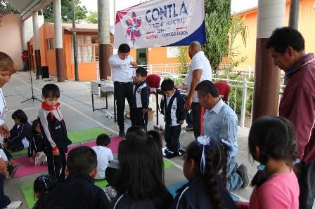 Beneficiarán a dos mil alumnos de Contla con activación física