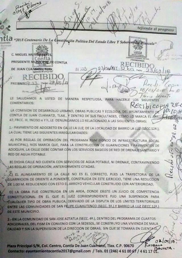 Regidores de Contla exhiben a Don Cheto por inepto