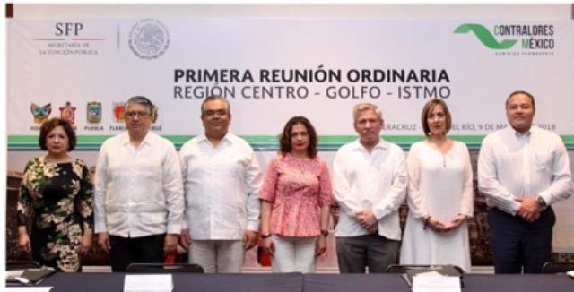 Participa Contraloría en reunión de la región Centro-Golfo-Itsmo
