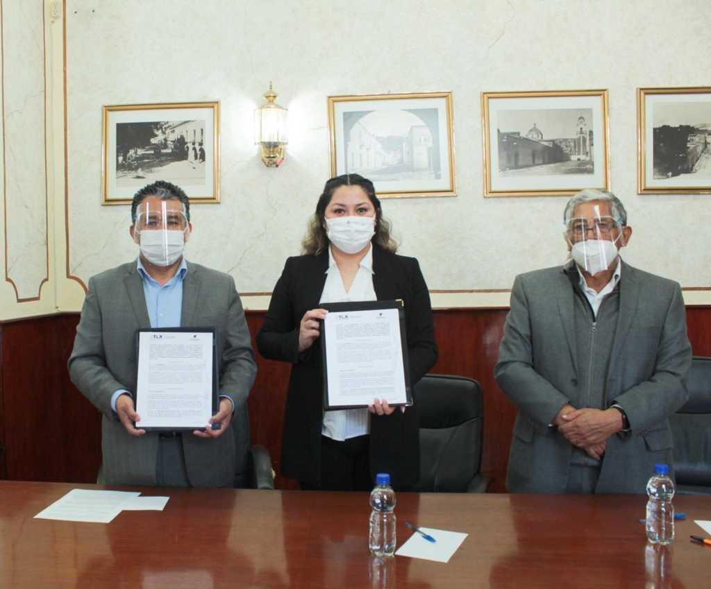 Signan convenio de colaboración Ayuntamiento de Tlaxcala y FOMTLAX