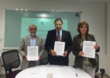 Firman convenio de investigación de colaboración UPTX y CIATEQ