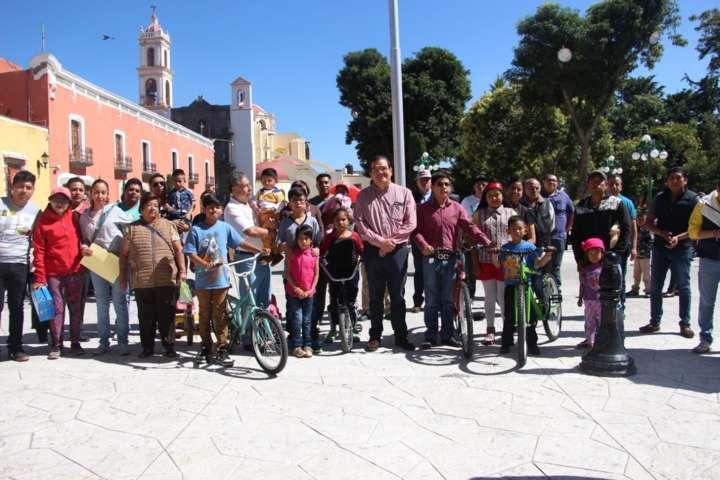 Alcalde incentiva a las familias con la 1er convivencia atlética infantil