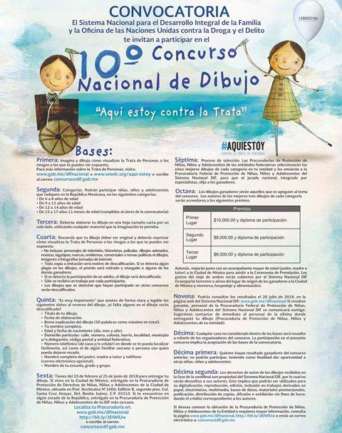 Invita DIF estatal al Décimo Concurso Nacional de Dibujo