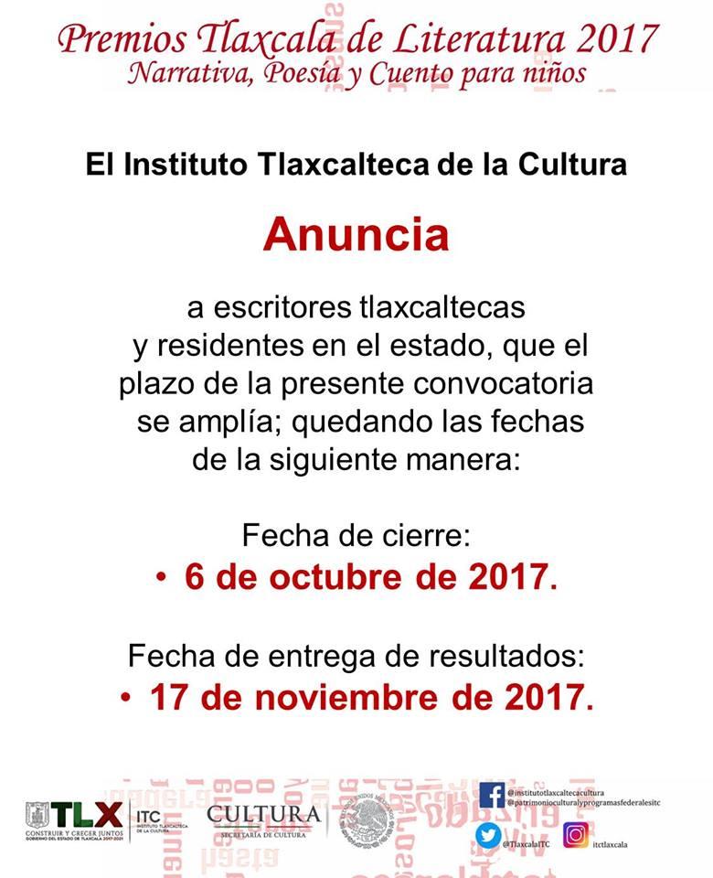 Convoca ITC al Premio Tlaxcala de Literatura 2017