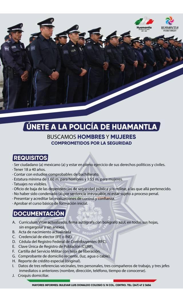 Continúa el reclutamiento de personal que quieran formarte de la policía municipal