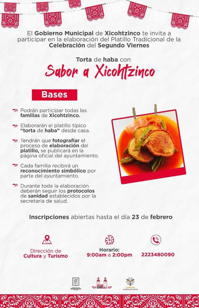 Invita Xicohtzinco a participar en demostración de torta de haba