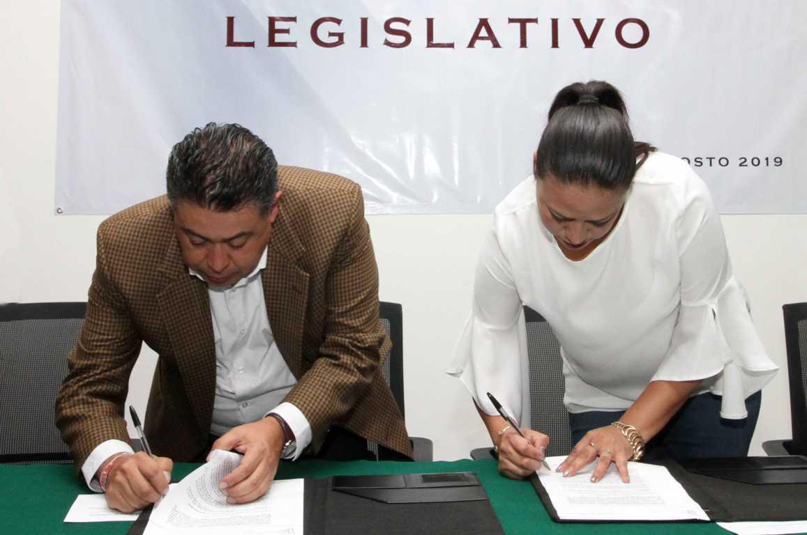Firman Gobierno del Estado y Congreso Local convenio televisivo