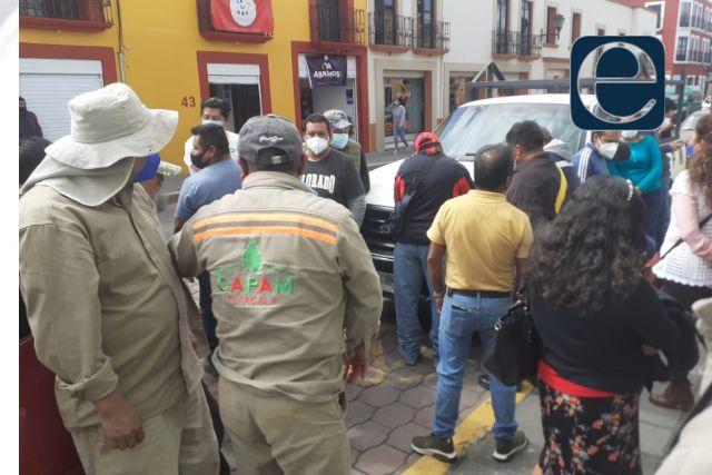 Revienta conflicto en la CAPAM; se inconforman trabajadores por falta de pago