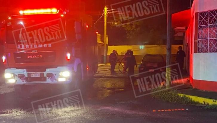 Por negligencia de Jorge Corichi, incendian patrulla municipal en la capital