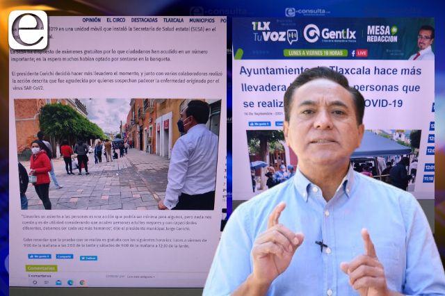 Se cuelga Jorge Corichi del gobierno estatal para justificar nulo trabajo