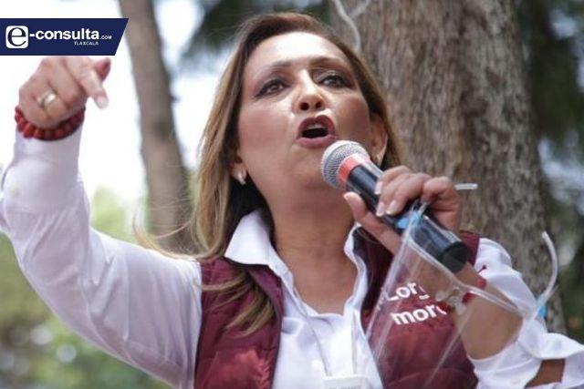Fuera los corruptos de Tlaxcala: Lorena Cuéllar