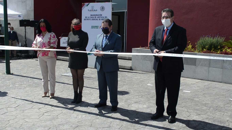 Inauguran casa de justicia en Tlaxco
