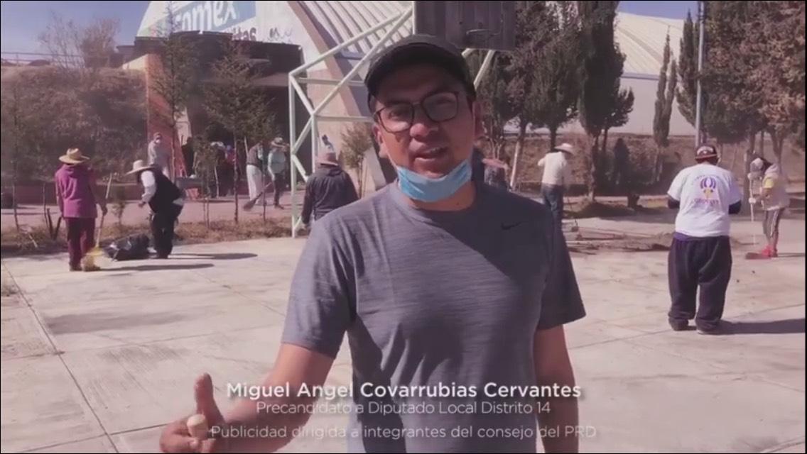 Va Covarrubias por la rehabilitación de Unidad Deportiva de Teacalco
