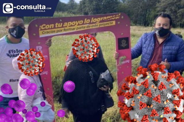 COVID-19 a la alza y director de PC anda en campaña en Chiautempan