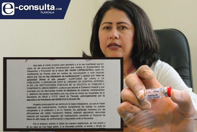 La priista Blanca Águila reprocha la falta de medicamentos en Tlaxcala