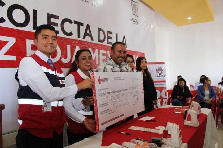 Apoyará Xicohtzinco mensualmente a la Cruz Roja