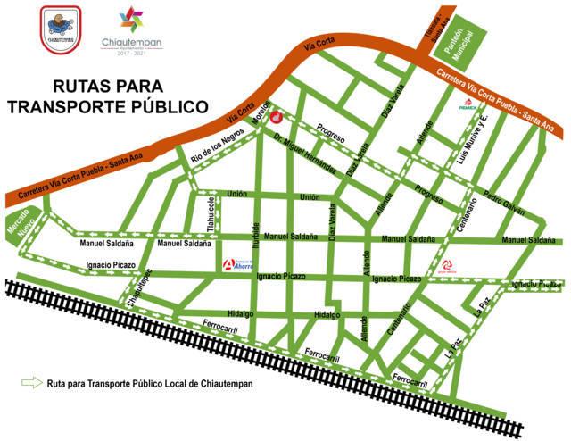 Rutas alternas para circular por Chiautempan debido a obras