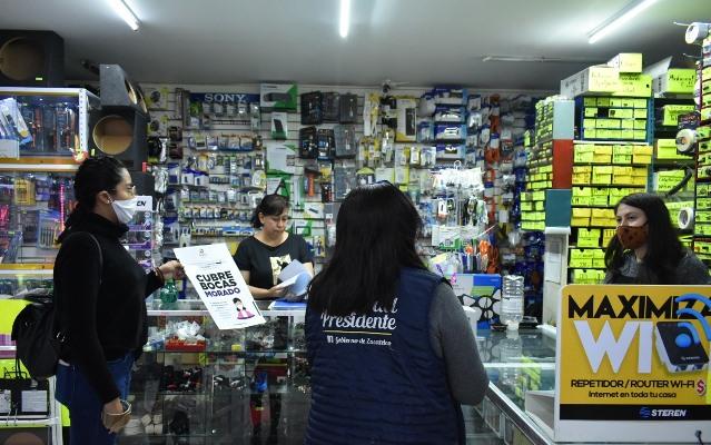 Implementan la Campaña Cubrebocas Morado a Zacatelco