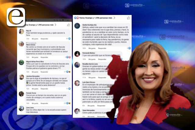 Gobernadora pide prudencia y le exigen que cancele la Feria de Tlaxcala