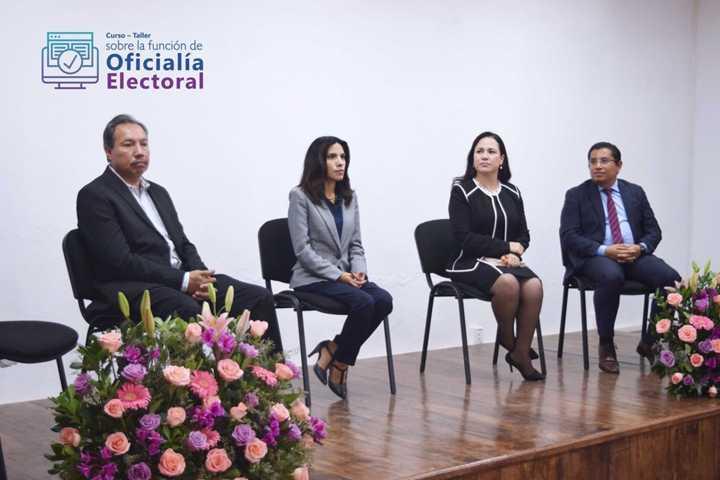 Comparten ITE, INE Y TET capacitación sobre oficialía electoral