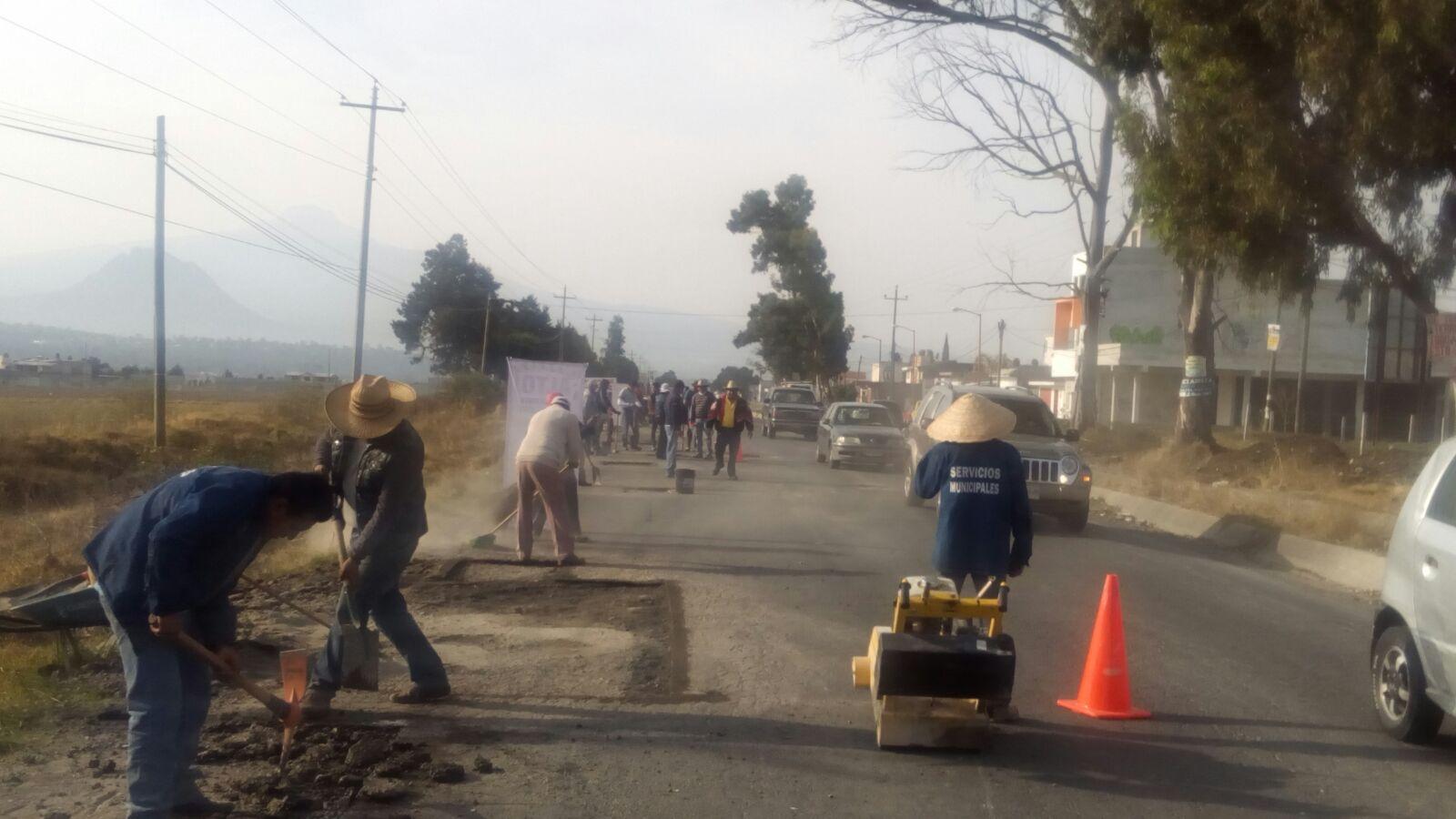 Bachean carretera Santa Cruz Tlaxcala-Apizaco